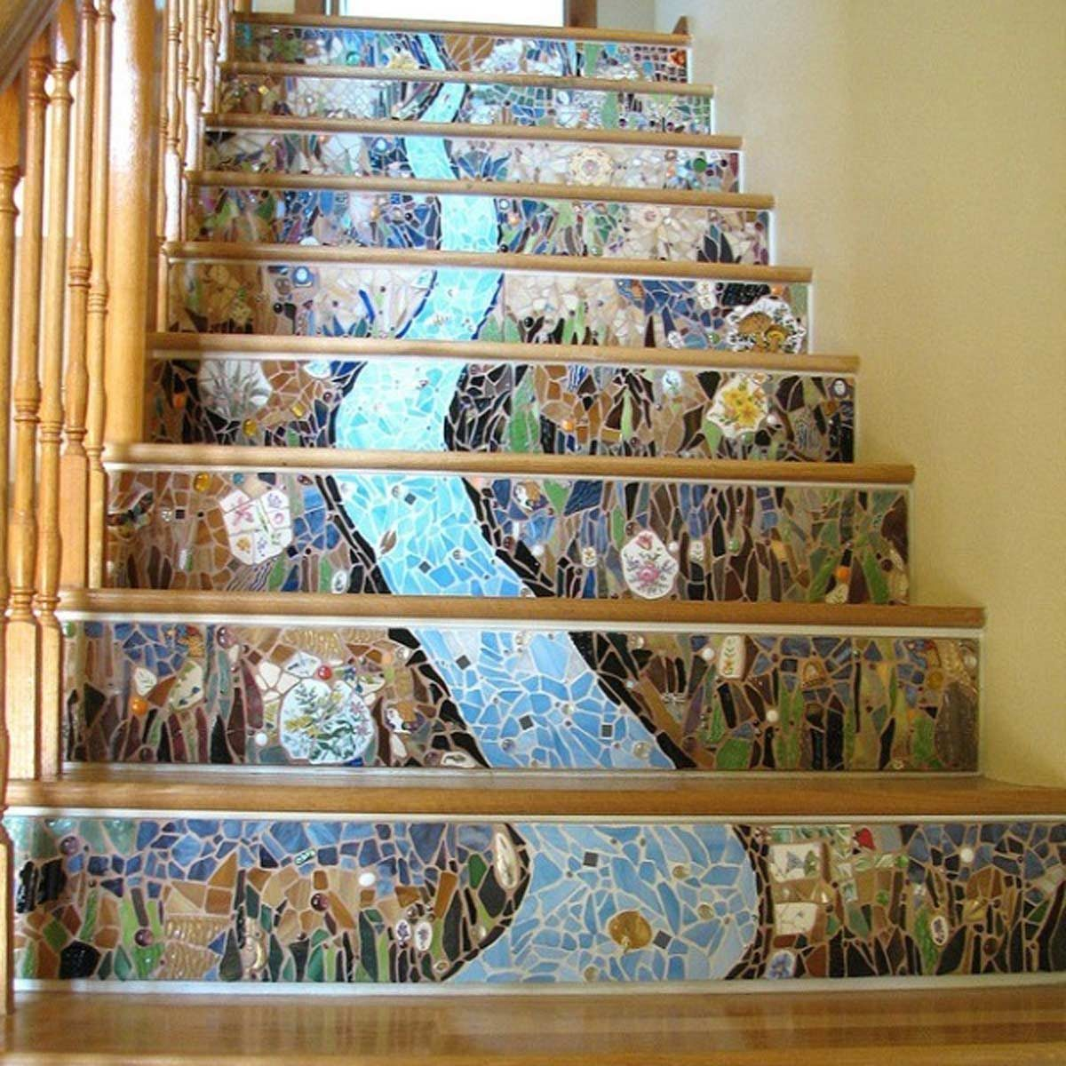 12 Inspired Ways To Embellish Stair Risers