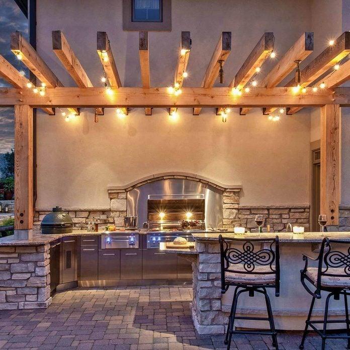 Patio Kitchen with Pergola