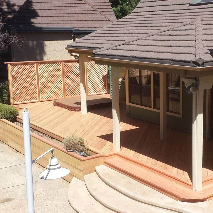 Deck with Privacy Fence
