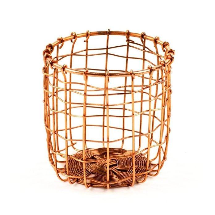 copper wire pencil holder basket