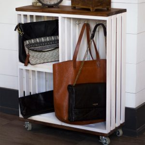 Rolling Crate Storage Shelf