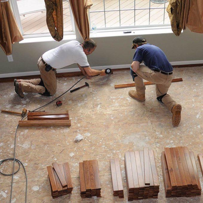 Upgrade Flooring Hardwood install