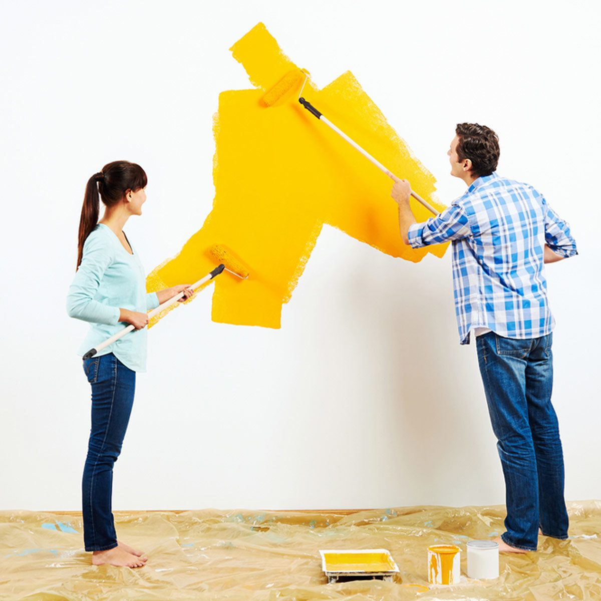 painting a wall yellow