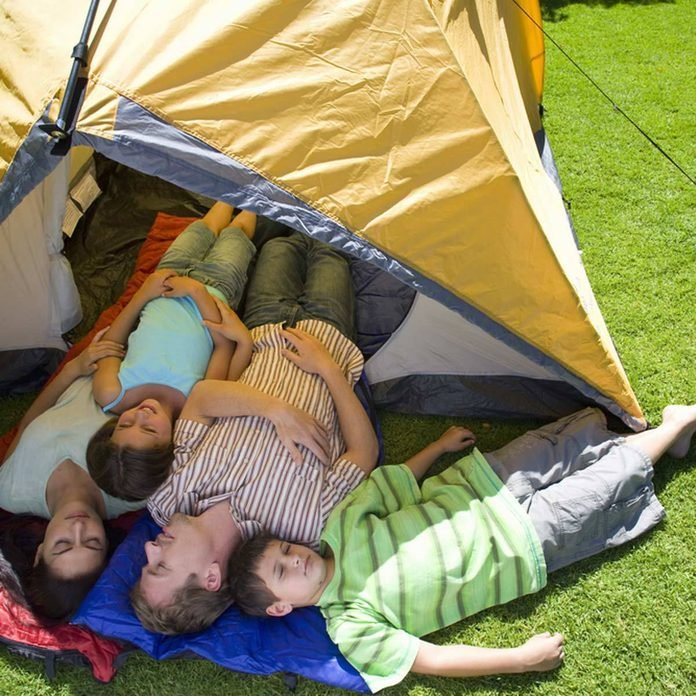 Have a Backyard Camp Out Family camping tent