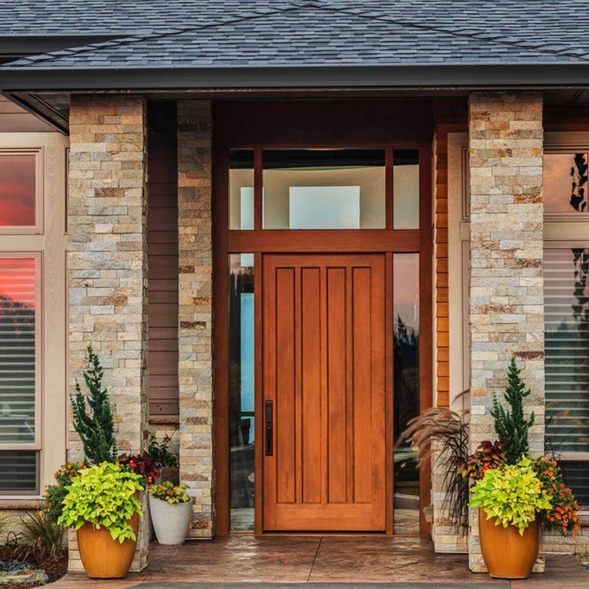 Modern Red Front Door: The Family Handyman