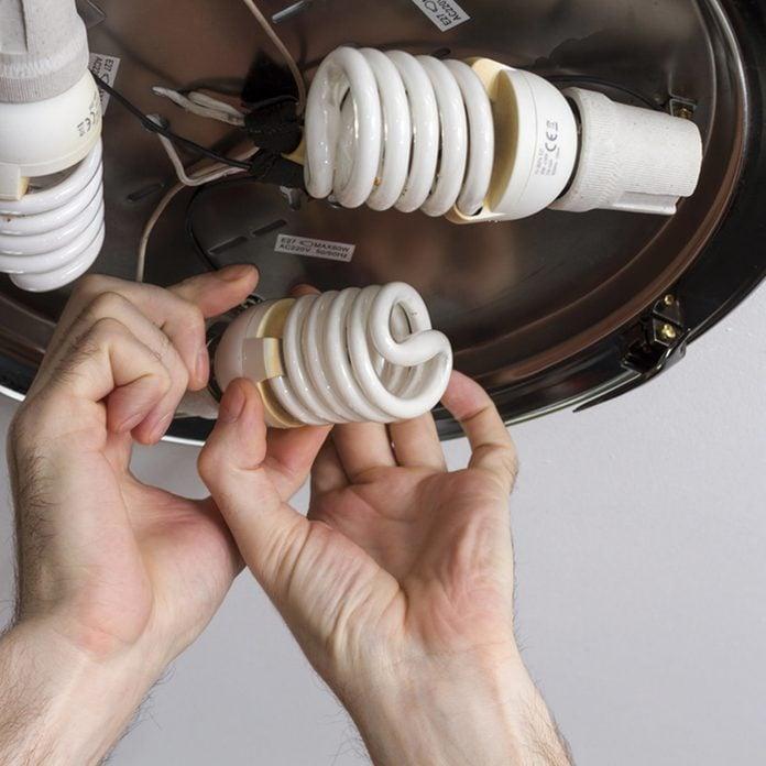 change a LED light bulb