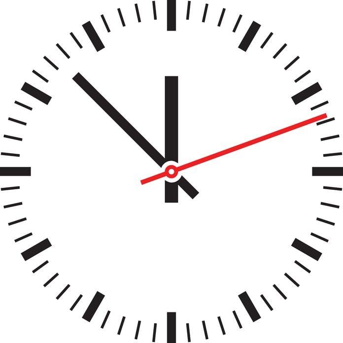 analog clock face