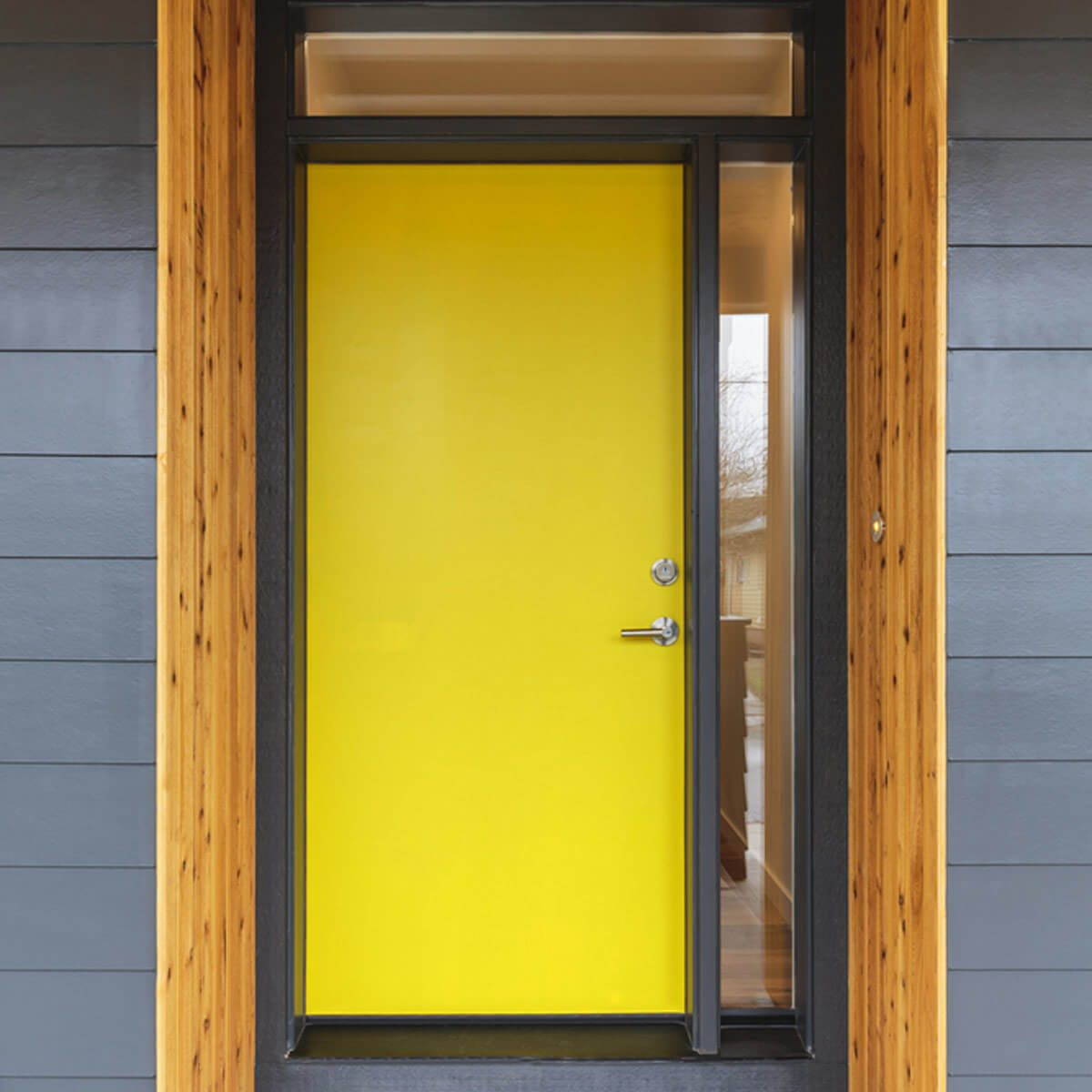 Yellow Door with Wood Trim & 15 Stunning Front Doors u2014 The Family Handyman