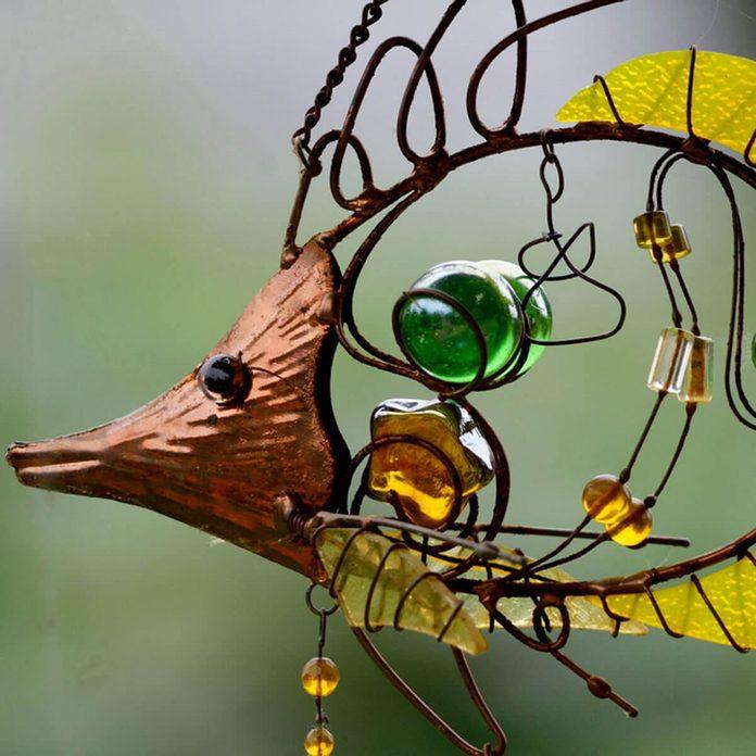 fish copper wire garden sculpture