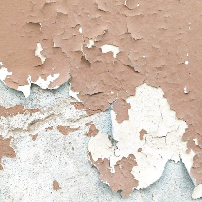 paint peeling walls