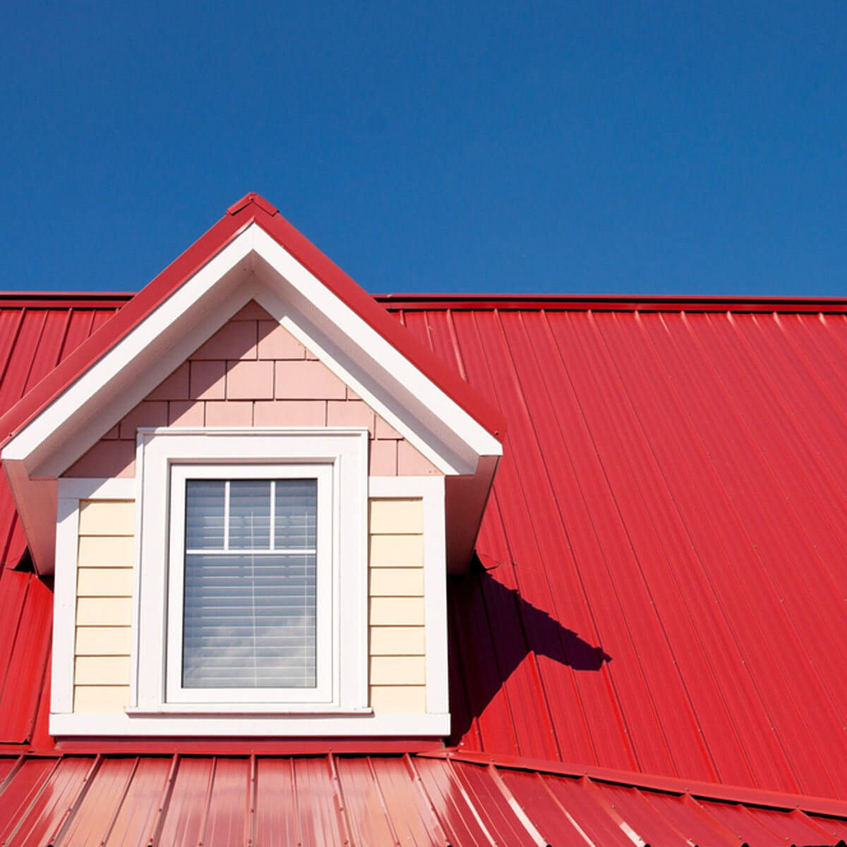 Red Metal, Fire-Resistant Roofing