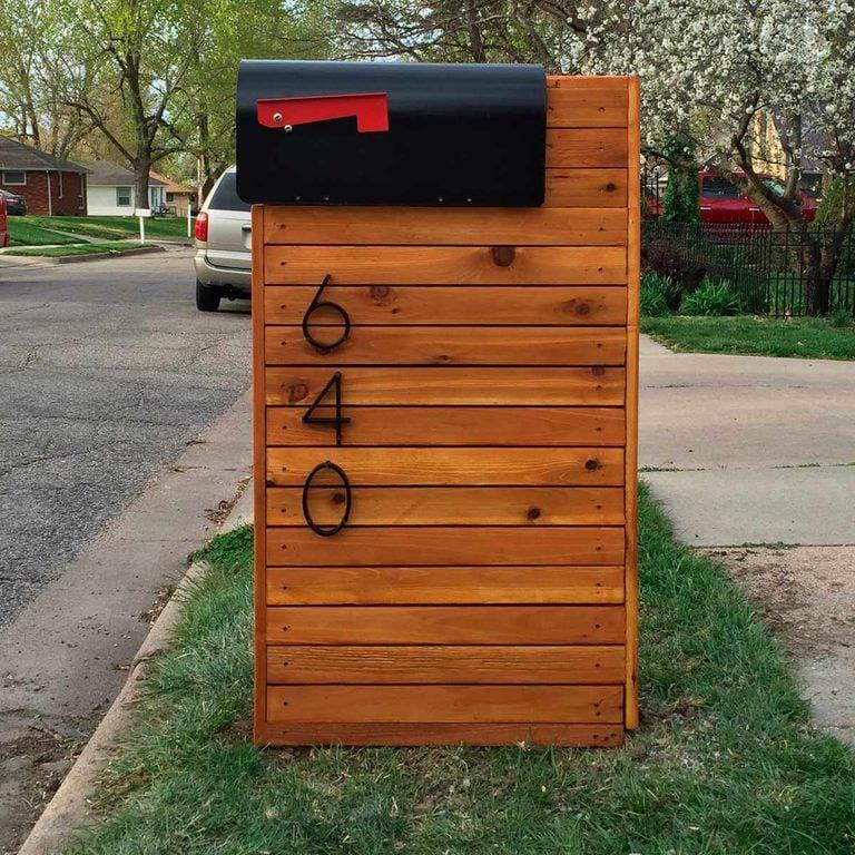 solid cedar mailbox