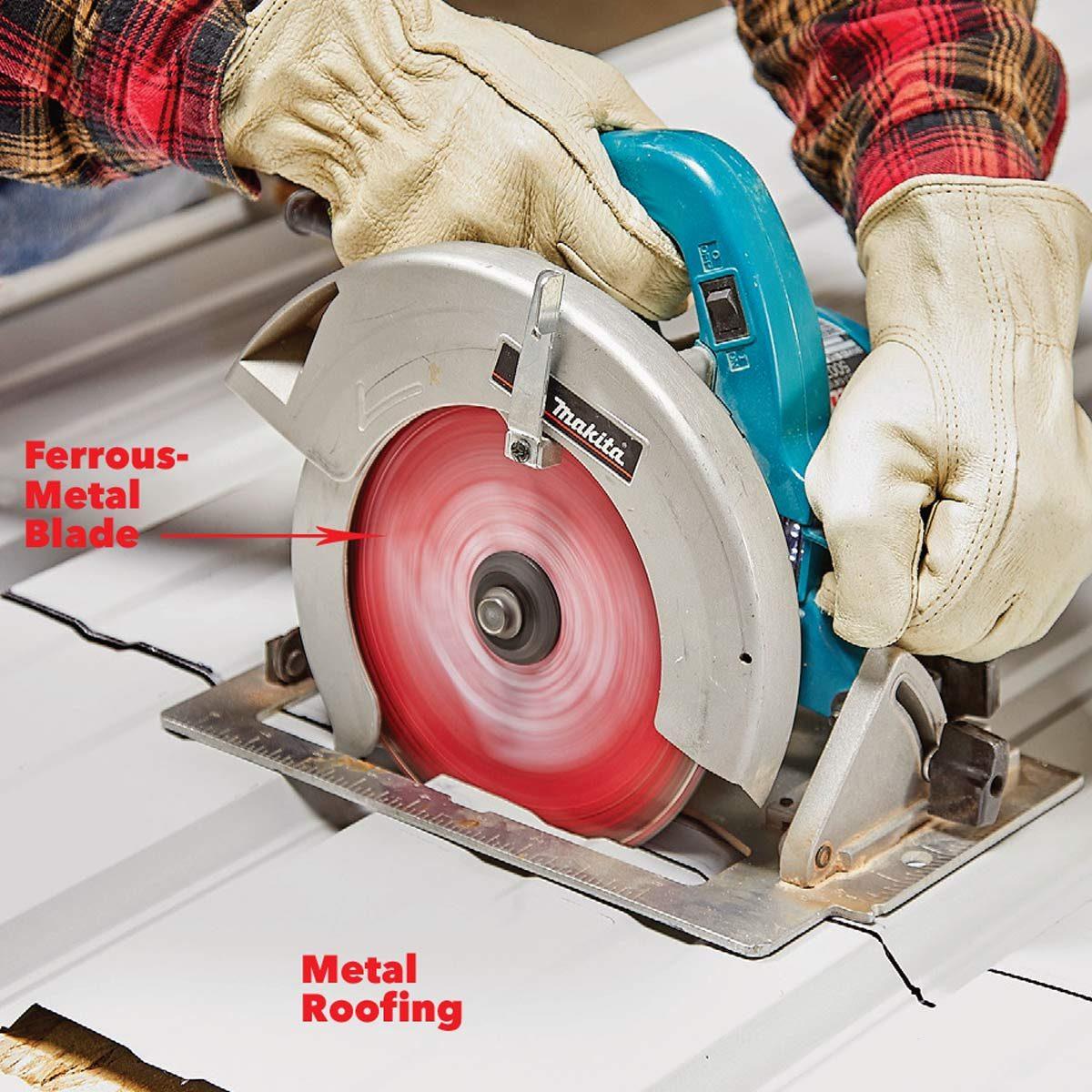резать металл с помощью циркулярной пилы
