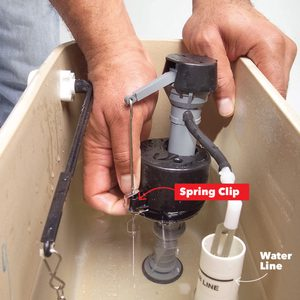 toilet water level