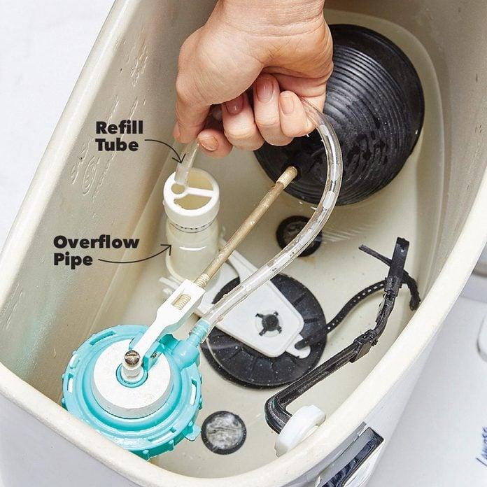 refill tube toilet