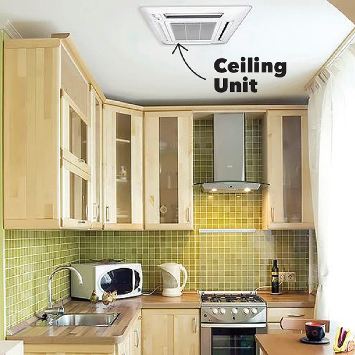 ceiling mini-split unit kitchen