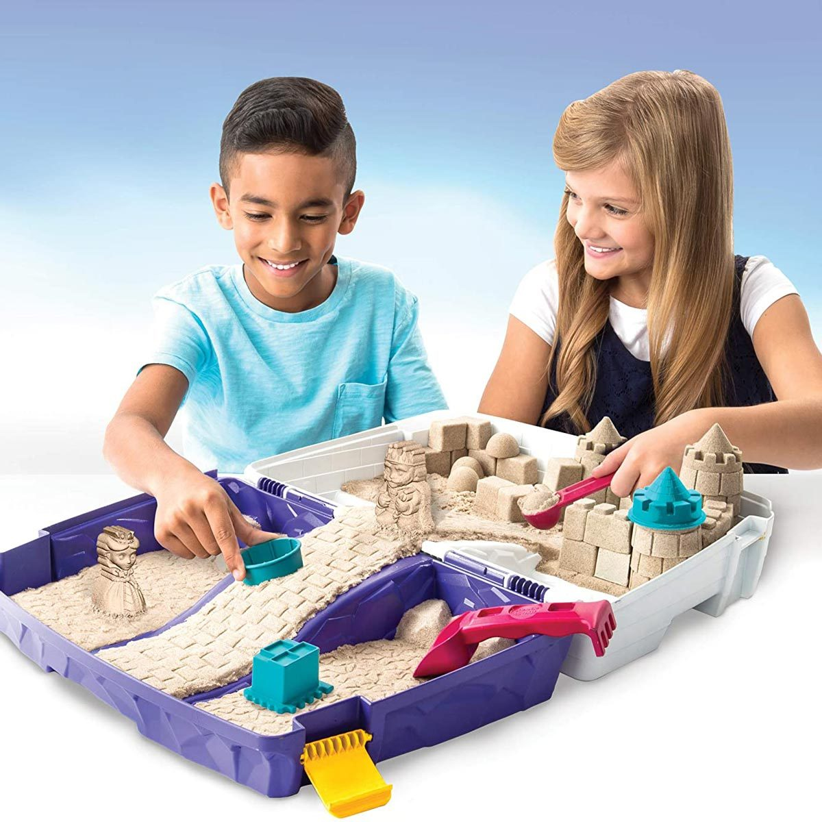 kinetic sand indoor sandbox