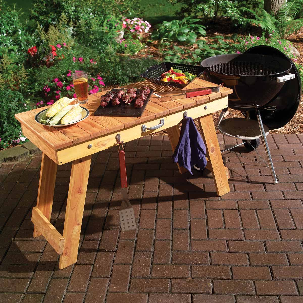 Transportable Fold Up Grill Table The Family Handyman