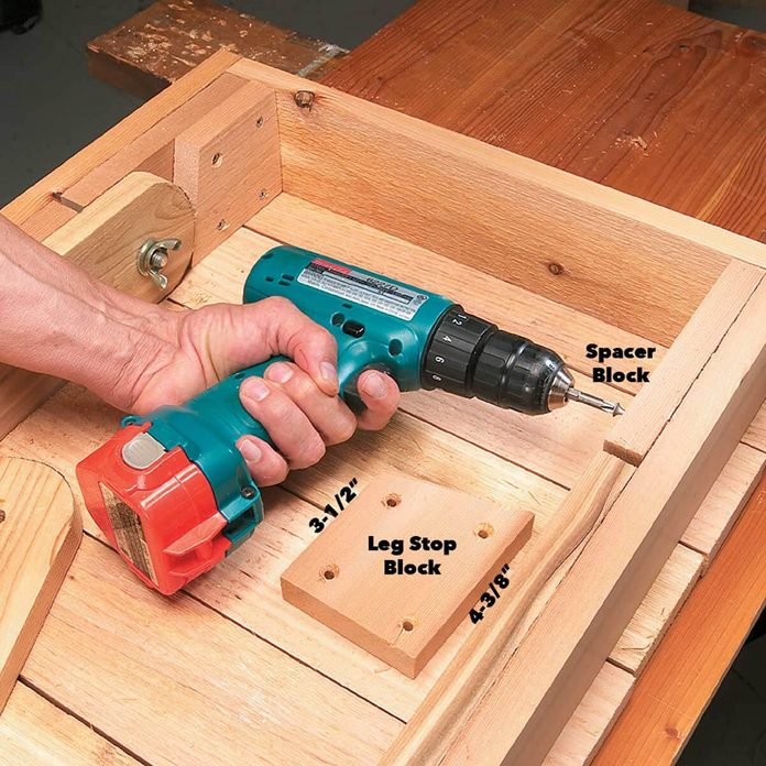 grill table spacer blocks