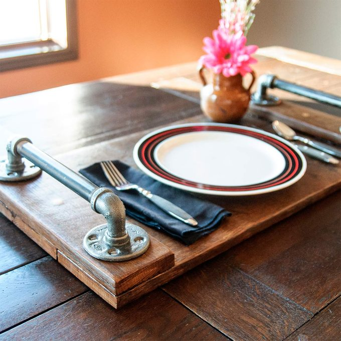 industrial style serving tray