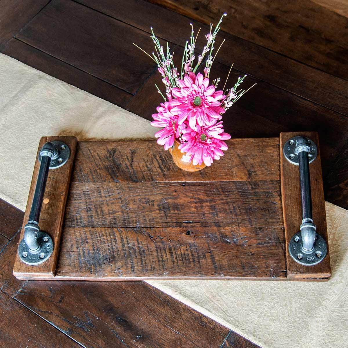 Cool How To Make An Industrial Serving Tray The Family Handyman Spiritservingveterans Wood Chair Design Ideas Spiritservingveteransorg