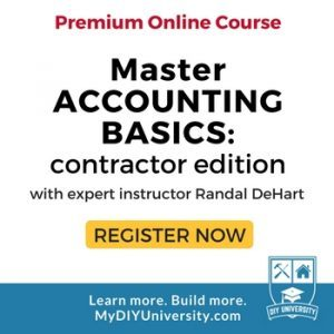 Master Accounting Basics: Contractor Edition