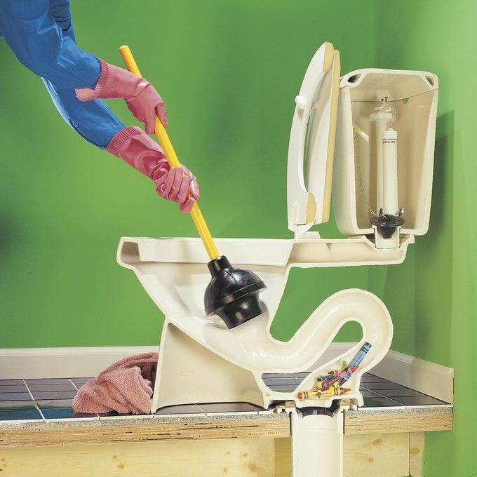 Clogged Toilet diagram