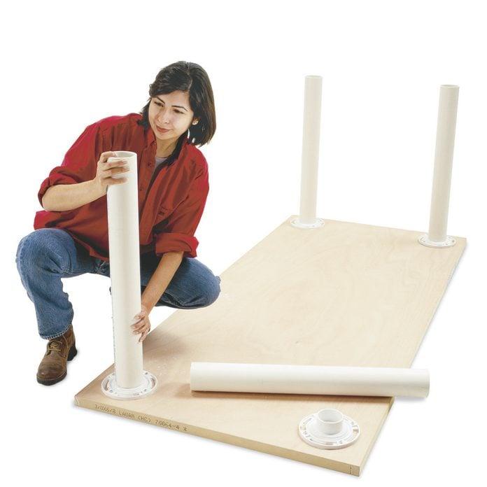 PVC legs workbench