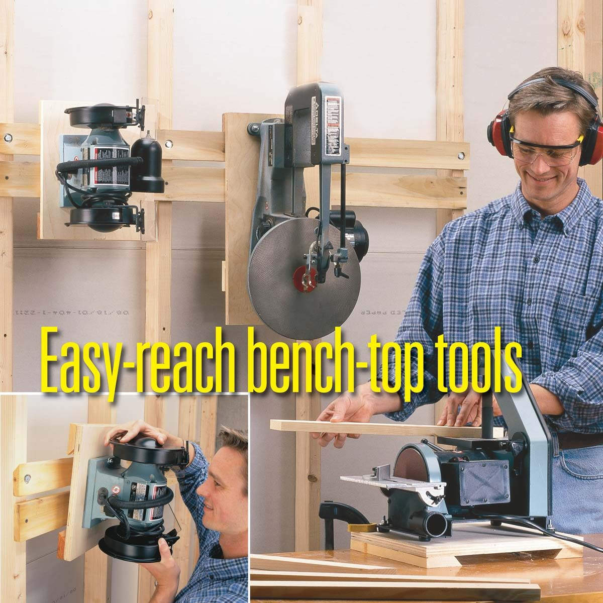 workshop tips easy to reach bench top tools