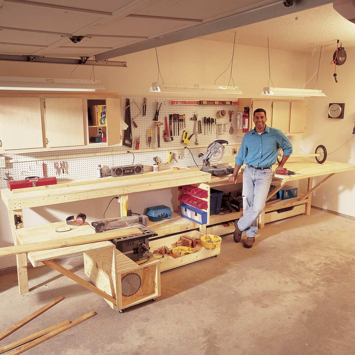 The 10 Best Garage Workbench Builds: 12 Super-Simple Workbenches You Can Build