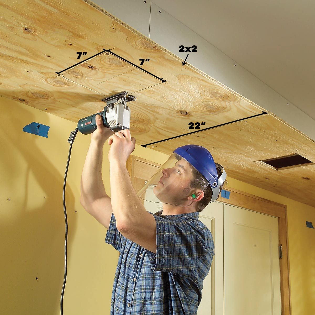 How To Build A Soffit Box With Recessed Lighting The Family Handyman