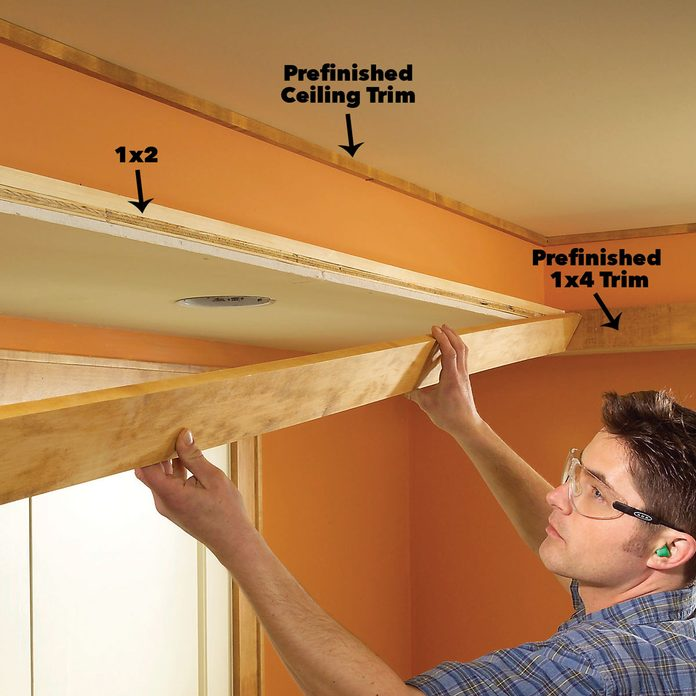 add trim to soffit box