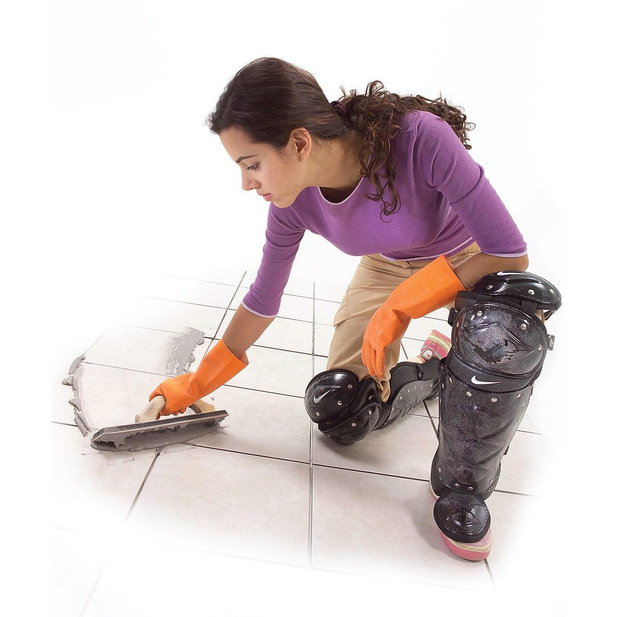 no-slide knee pads — tip from the family handyman