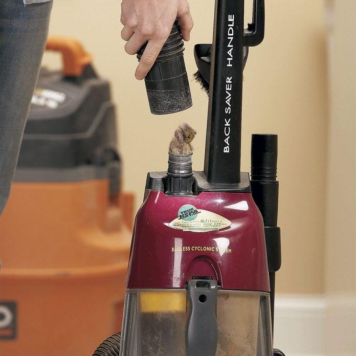 unclog a vacuum