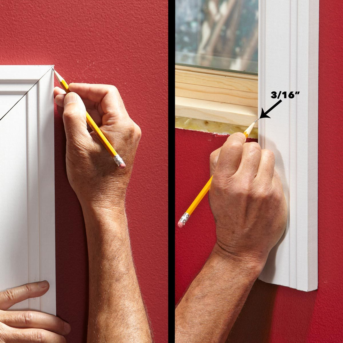 cut window trim sides to length