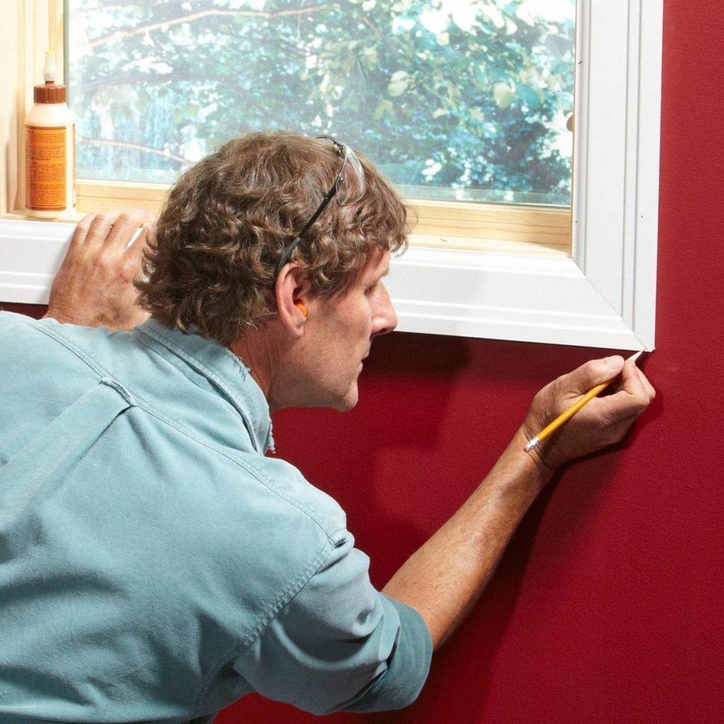 bottom piece of window trim