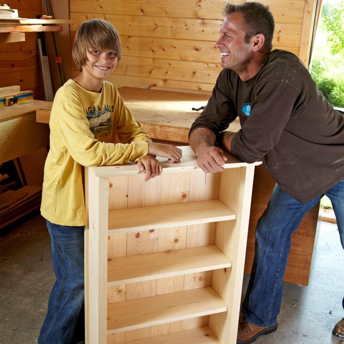 Simple Diy Bookshelf Plans The Family Handyman