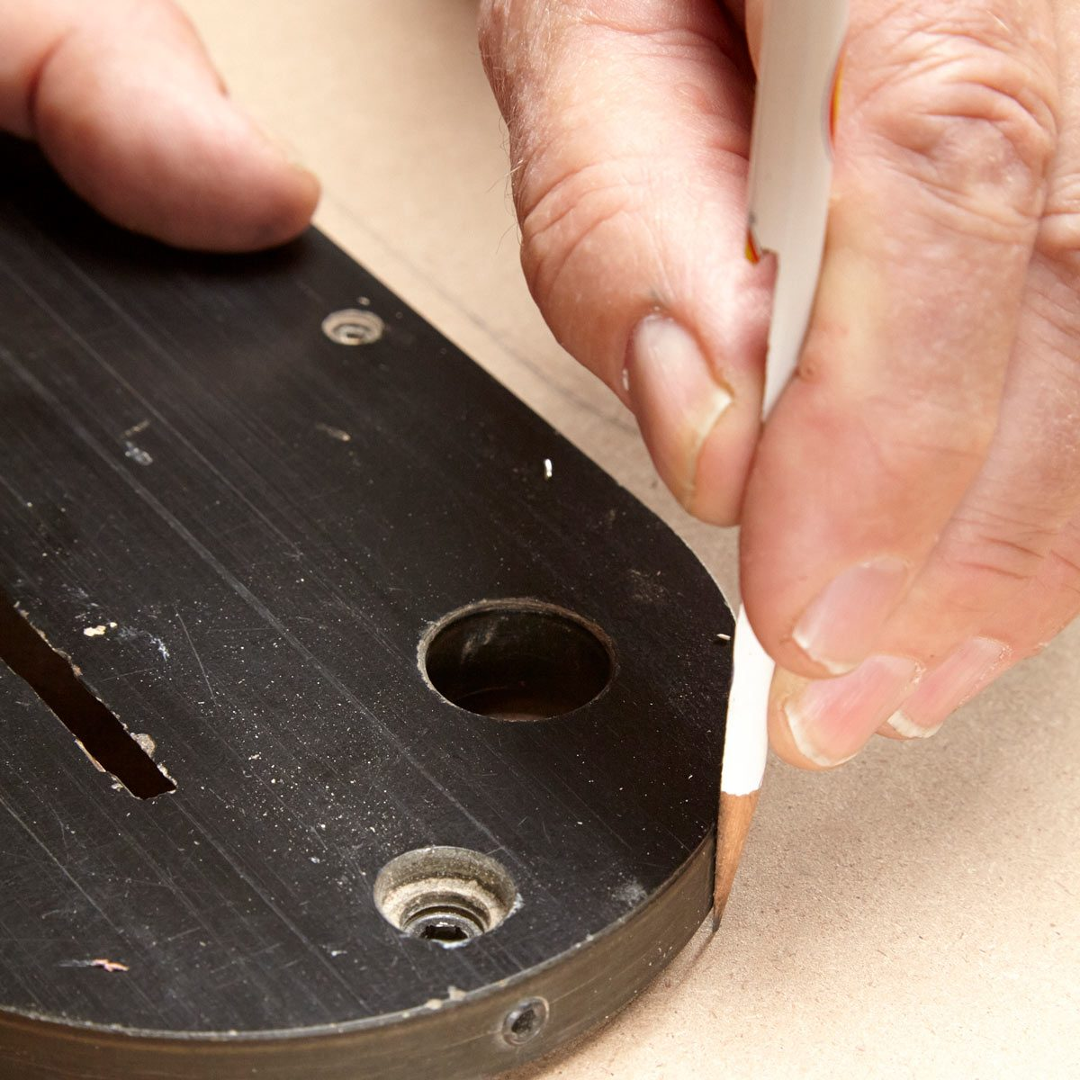 woodworking tip: how to mark nail placement without a pencil