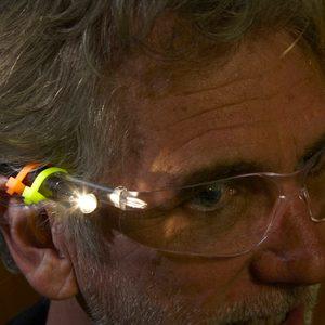 lighted safety glasses