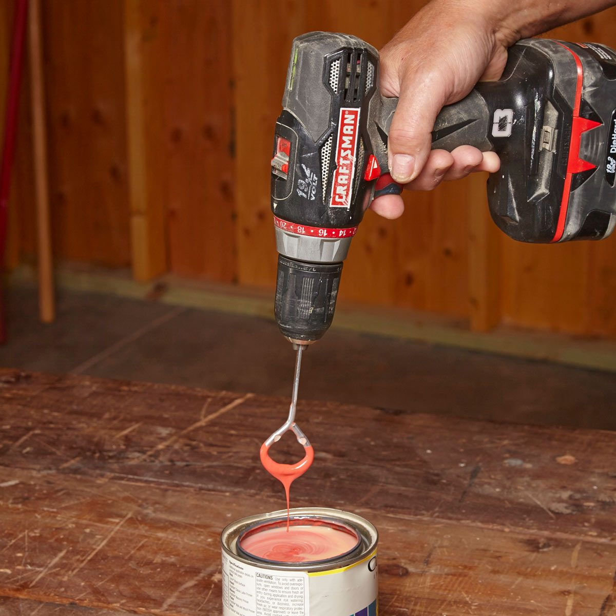 stir it up — workshop tip from the family handyman