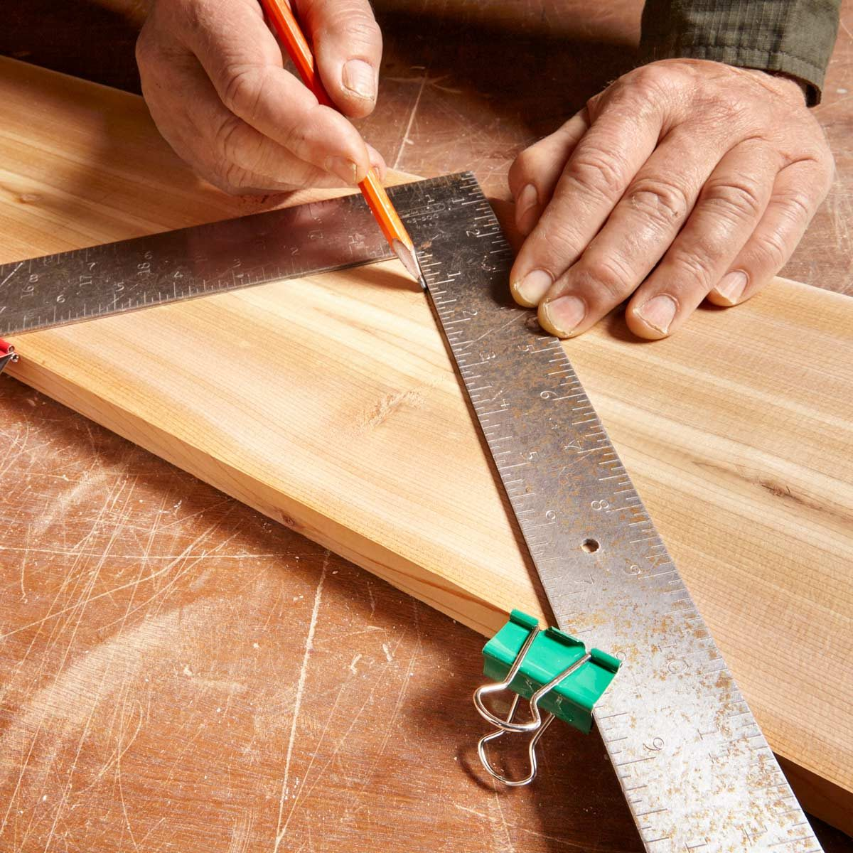 stair gauge substitute — tip from the family handyman