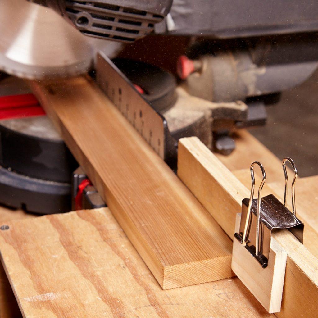 binder clip miter saw fence