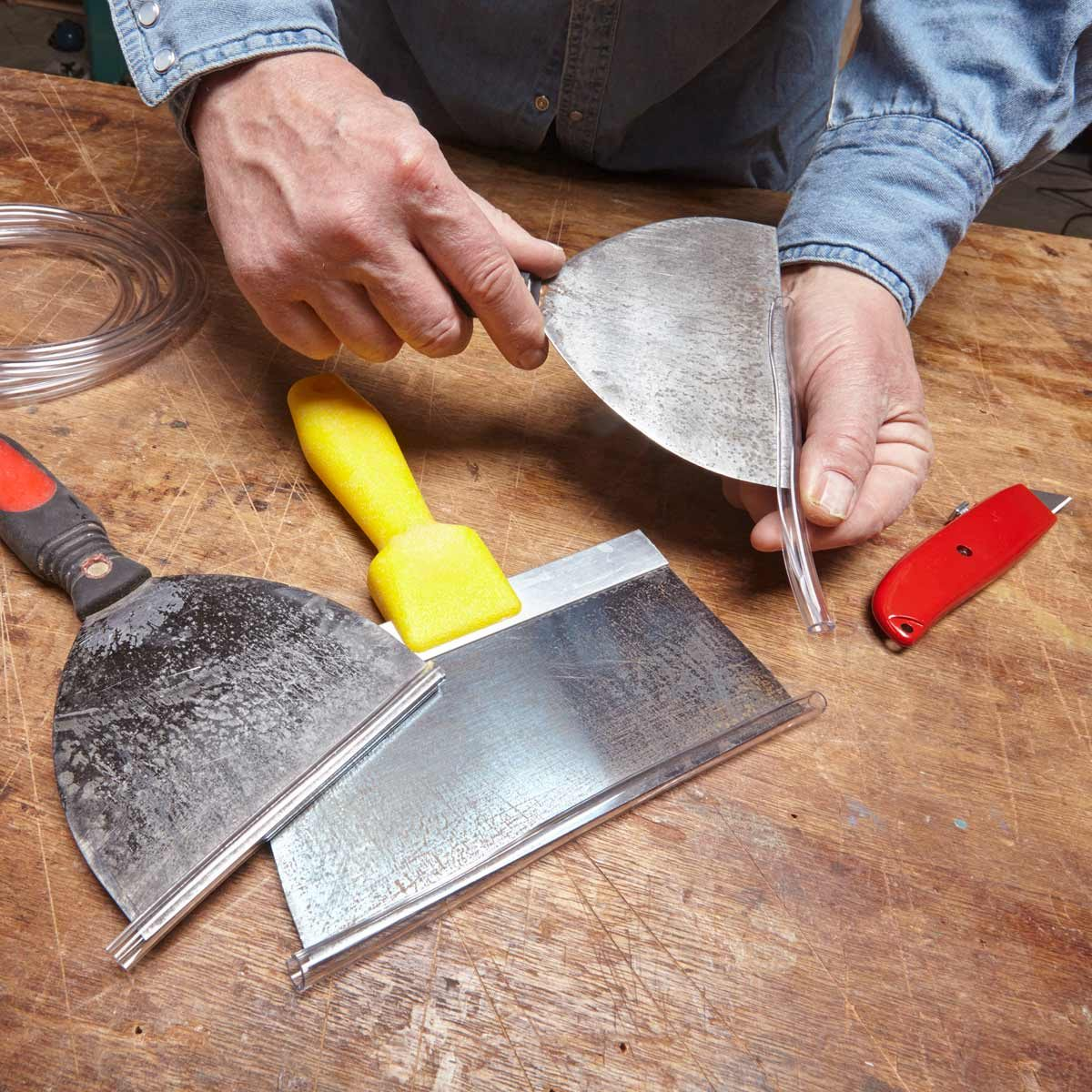drywall knife protector — tip from the family handyman
