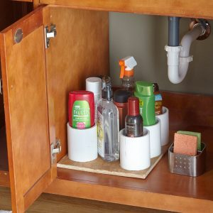 Organize Under Your Sink With PVC
