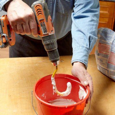 bike hook mixing epoxy