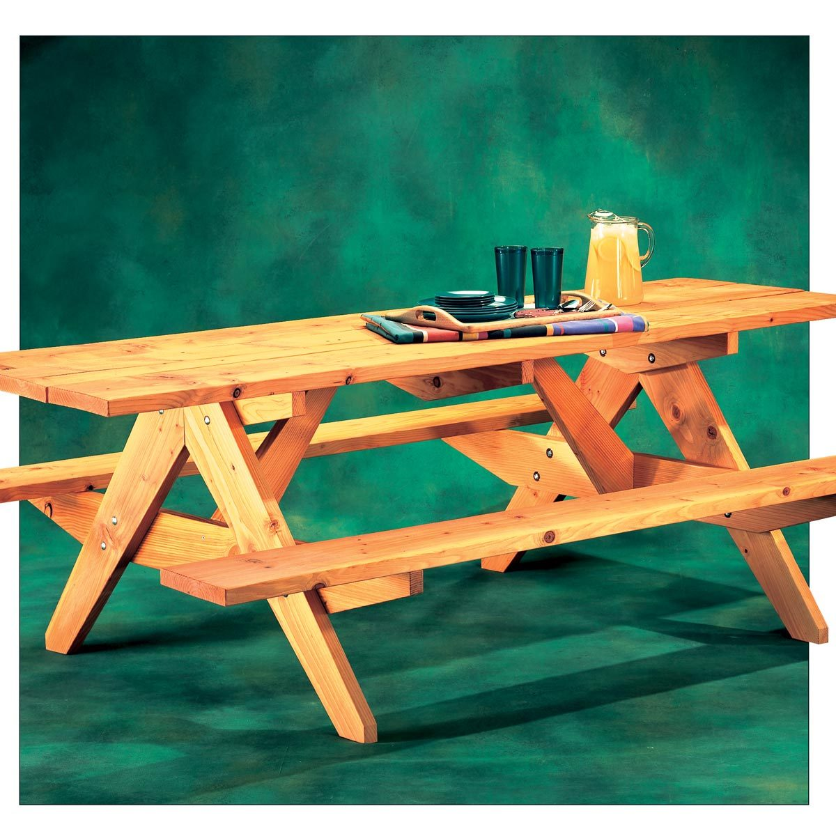 How To Build An AFrame Picnic Table The Family Handyman - Ready to assemble picnic table