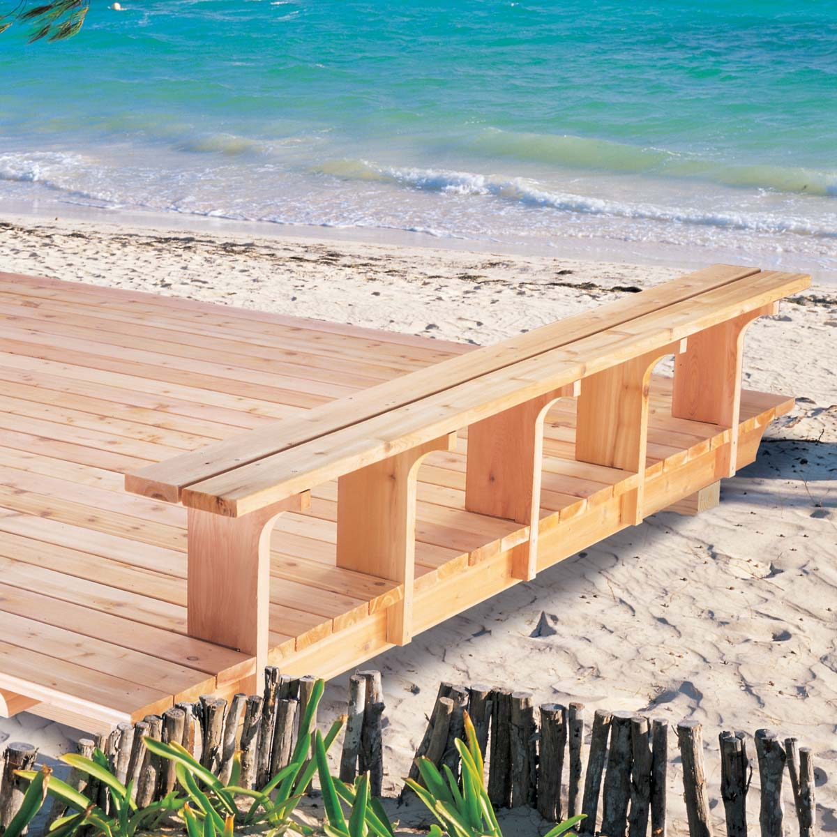 simple deck on the beach