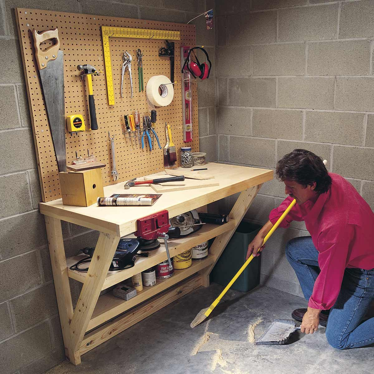 The 10 Best Garage Workbench Builds: 14 Super-Simple Workbenches You Can Build