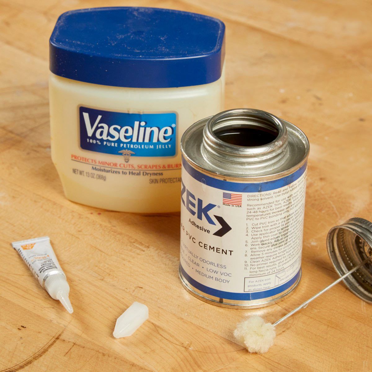 HH Vaseline super glue rubber cement