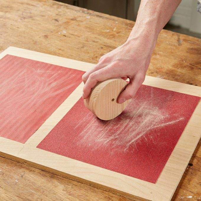 Sanding Station for Small Work Handy Hint